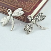 aluminum jewelry findings - metal antique silver charms dragonfly pendants jewelry findings fit necklaces jewelry making Z42760 jewelry aluminum