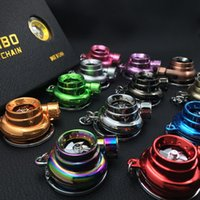 Wholesale Led Turbo Keychain with Sound and Spinning by battery available for colors to choose from with gift package
