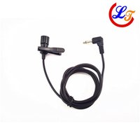 condenser microphone - Sale Lapel Condenser Microphone Lavalier Capacitance MIcrofone for Car Driver Speaker mm Mono Angle Jack Adapter