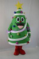 Wholesale The most popular Christmas Halloween Christmas tree costumes for Halloween party supplies adult size mascot