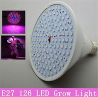 Wholesale Smd 3528 Growing Plants - LED Grow Light E27 15W 90Red 36Blue Leds 126 SMD 3528 Spotlight for Flowering Plant and Hydroponics System 110V 220V CE ROHs