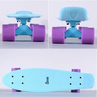 skateboard truck - 22inch Plastic Skateboard with Original Penny Logo and Blue Truck and Purple wheels cheap penny skateboard