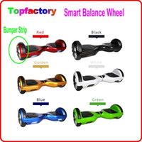 bag in box - Smart Self balancing wheel Electric Scooter add Bumper strip Mini Smart Hoverboad mah battery Remote Key bag pack in retail box