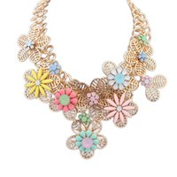 Cheap Women Flower Chokers Best Hollow Necklace