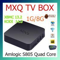 Cheap Original MXQ TV BOX Amlogic S805 Mini PC Quad Core Android 4.4 Kitkat 4K HDMI H.265 1GB 8GB XBMC KODI14.2 WIFI Airplay Miracast 3D 10pcs