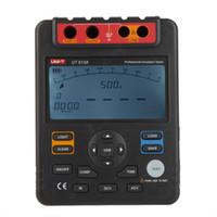 Wholesale New UNI T Digital Insulation Resistance Tester Megohmmeter Voltmeter V w USB Interface Earth Ground Meter UT513A