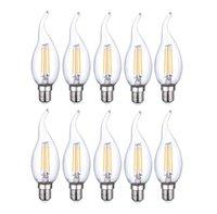 COB e12 bulb - 10Pcs Per High quality led bulb E12 E14 W filament candle bulb V V C35 C35T with bent tip lumen w