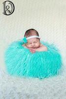 Wholesale Size cm High Quality Faux Fur Blanket Basket Stuffer Mongolia Fur Photography Props Newborn Photography props