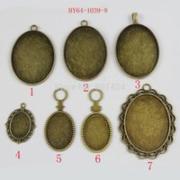 Wholesale 1lot antique bronze sundry oval fit mm mm mm cameo cabochon settings bezel beads charm