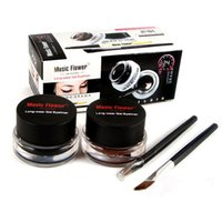 Wholesale Waterproof Cosmetic Eyeliner Gel with Eyeliner Brushes In Natural Makeup Eyeliner Gel Kits Fast Dry Function Hot Sale