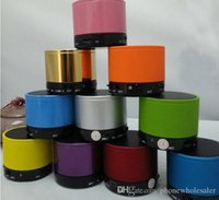 Wholesale S10 Metal Mini Portable BeatBox HiFi Bluetooth Wireless Speaker subwoofer bass TF Handfree Mic Stereo Portable Speakers mp3 mp4 player