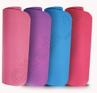 Wholesale 20PCS LJJH1239 Yoga Mat cm Thick Exercise Non slip Pad Gym Lose Weight Durable Fitness Thickening non slip mats