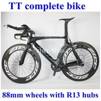 Wholesale TT complete bike road bike bicycle full carbon fiber Black BOB color mm wheels Powerway R13 Hubs different groupset for choice