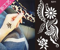 Wholesale Indian Henna Tattoo S207 hot spot Hanna tattoo temporary tattoo template Temporary Tattoos printing Body Art templates