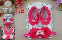 Wholesale 6 off new cheapRhinestone Baby Girls Shoes Headband Set Ballerina Baby Shoes Fashion Zapatos Bebe Baby Shower Gift Animal Slippers set