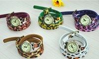 leopard watches - 10PCS Women Leather Leopard Bracelet Watches Infinity Twisted Watches Women Bracelet Watches Quartz watches Wrist Watches Best Gift