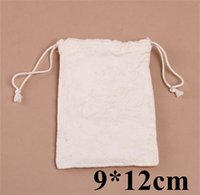 cute drawstring bag - Retail mini Drawstring Cotton Bag Gift Tea Sachet Storage Pouch Cute organza Packing Bags cm