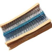 500PCS 5 Valores 1 / 4W 1% Resistores de película metálica Resistencia Surtido Kit Set