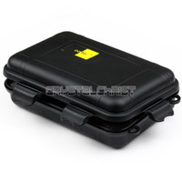 waterproof container - super big Black Plastic Waterproof Airtight Case Fly Fishing Container Storage Travel Box