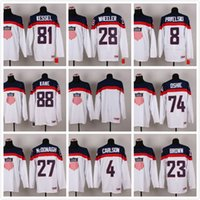 Cheap Men's stitched sport Jerseys pro Ice Hockey World Championship embroidery 74 oshie 27 mcdonagh 4 carlson 23 brown