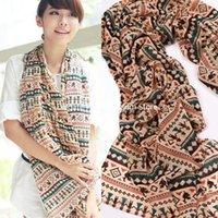 Wholesale famous Shawls women fashion Bohemian cartoon villain lined up hand in hand chiffon scarf silk scarf medium