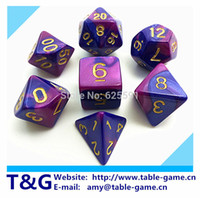 Wholesale 2015 New Mix color Magic Purple Dice Set with Nebula effect rpg game Dice brinquedos dados juguetes dungeons and dragons