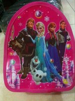 Wholesale Frozen The newest baby girl boy cartoon schoolbag children travel backpack Two kinds of specifications X27cm and x24cm