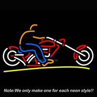 Wholesale Custom Motorcycle Neon Sign Neon Bulbs Recreation Garage Real Glass Tube Gifts Glass Handcraft Guarante Store Display x12