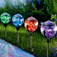 Wholesale New in Solar Floating Color Changing LED Water Pool Light Outdoor Garden Path Landscape Ball Tree Lamp