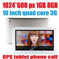Cheap 10 10.1 Inch MTK8382 3G Tablet PC Phone Call Android 4.2 1GB RAM 8GB Quad Core 1.3Ghz GPS Bluetooth Dual Sim Card Phablet three colors
