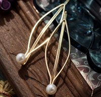 Wholesale Western Style Accessories For Women Fashion Jewelry Atmospheric Faux Pearl Hairpin Clip Headdress Female Hair Clip Bobby Pin Barrette