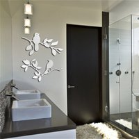 Wholesale promotion reference mirror waterproof cloth wall decals PVC household adornment wall stickers The birds on the tree