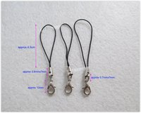 Wholesale Double rings Toy Doll Accessories Small Lobster Claw Lobster Clasps with lanyard for DIY crafts LA0404 black