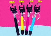 Wholesale Hot Extendable Monopod handheld camera selfie stick monopod with packing For iPhone Samsung HTC LG mix colors