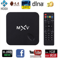 Wholesale MXV S805 Android TV BOX Android TV BOX Quad Core G G Android Xbmc Kodi smart Media Player