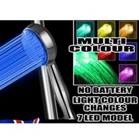 Wholesale Hot New Design High Quality Stainless Steel Automatic Color LED Light Round Bathroom Water Shower Head