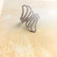Wholesale Rushed Anel The Gorgeous925 Silver Rings O Crystal Rings For Woman And Fashion Jewelry No Minorder Women Jewelry