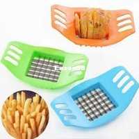 Wholesale New Arrival Stainless Steel Potato Cutting Device Cut Fries Device Kitchen Tools Color Random Drop Shipping