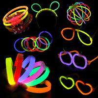 Wholesale LED Fluorescent Bracelets Glow Disposable Sticks LED Ligh LED Flash Toys Fluorescent Sticks Party Lights Christmas Halloween Festival Light
