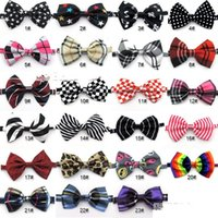 Wholesale 100pc Factory Sale New Colorful Handmade Adjustable Dog Pet Tie butterfly Bow Ties Cat Neckties Dog Grooming Supplies P018