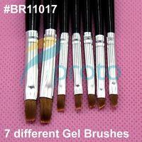 Wholesale AE606 Black Nail Art Brush Set for UV Gel Builder Professional Kolinsky Hair Nail Gel Brush Kit Nail Tools Pen
