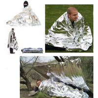 emergency survival blanket - PET cm Delicate Silver Thin Emergency Blanket Survival Rescue equipment Outdoor Camping Life saving for Survival kit