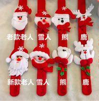Wholesale Solid Gold Wrist Watches - Christmas bracelet Watch snowman claus deer wrist decoration toys on Christmas Christmas decorations
