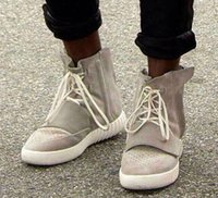 Wholesale brand men shoes men s boots Kanye West Yeezy boots men s sport shoes fashiong sneakers with box