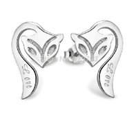 animated fox - 40 New Animate Jewelry Fox Silver Earrings Love Elegant Fashion Earrings for Women Cheap Errings