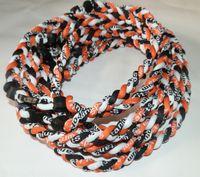 baseball circle - 3 ropes tornado braided titanium necklace baseball football Germanium Titanium many colors size quot quot quot