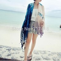 Wholesale Masculino Wire Gradient Beach Towels for Graffiti Travel English Tassel Scarf Is Prevented Bask In Shawls Cotton Silk Scarves