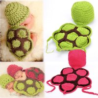 Cheap NEW Cute Turtle Toddler Boy Girl Baby Beanie Newborn Costume Photo Photography Props Knit Crochet Handmade 36