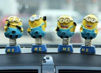 Wholesale creative Despicable Me Minion Car interior accessories furnishing articles Spring Minions shook his head doll