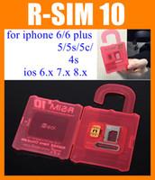 Wholesale R SIM RSIM R SIM r sim10 Unlock Card Perfect unlock iphone plus iphone s s IOS8 ios x AT T pk R SIM Mini OTH031
